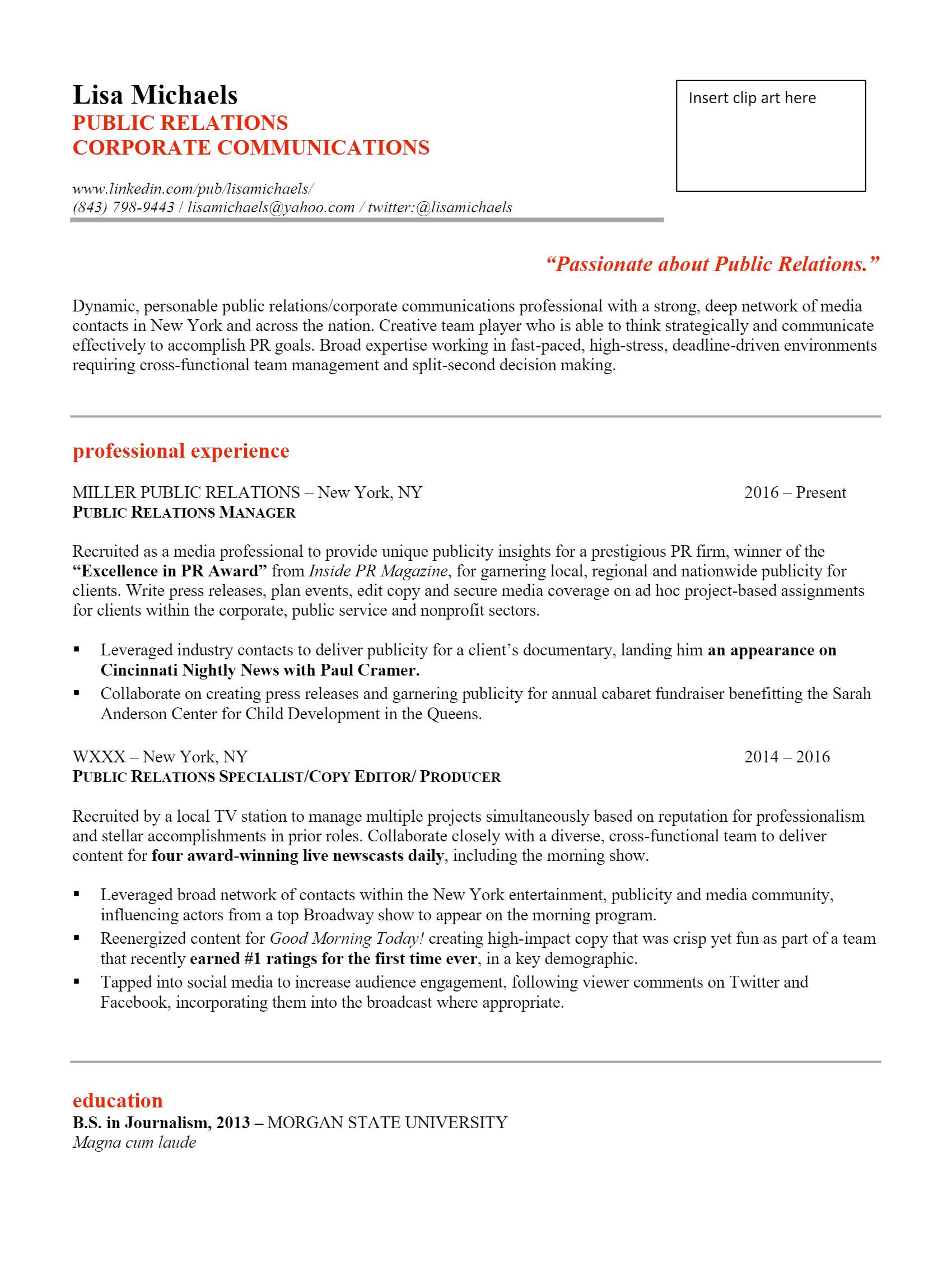 Public Relation Resume > Public Relation Resume .Docx (Word)