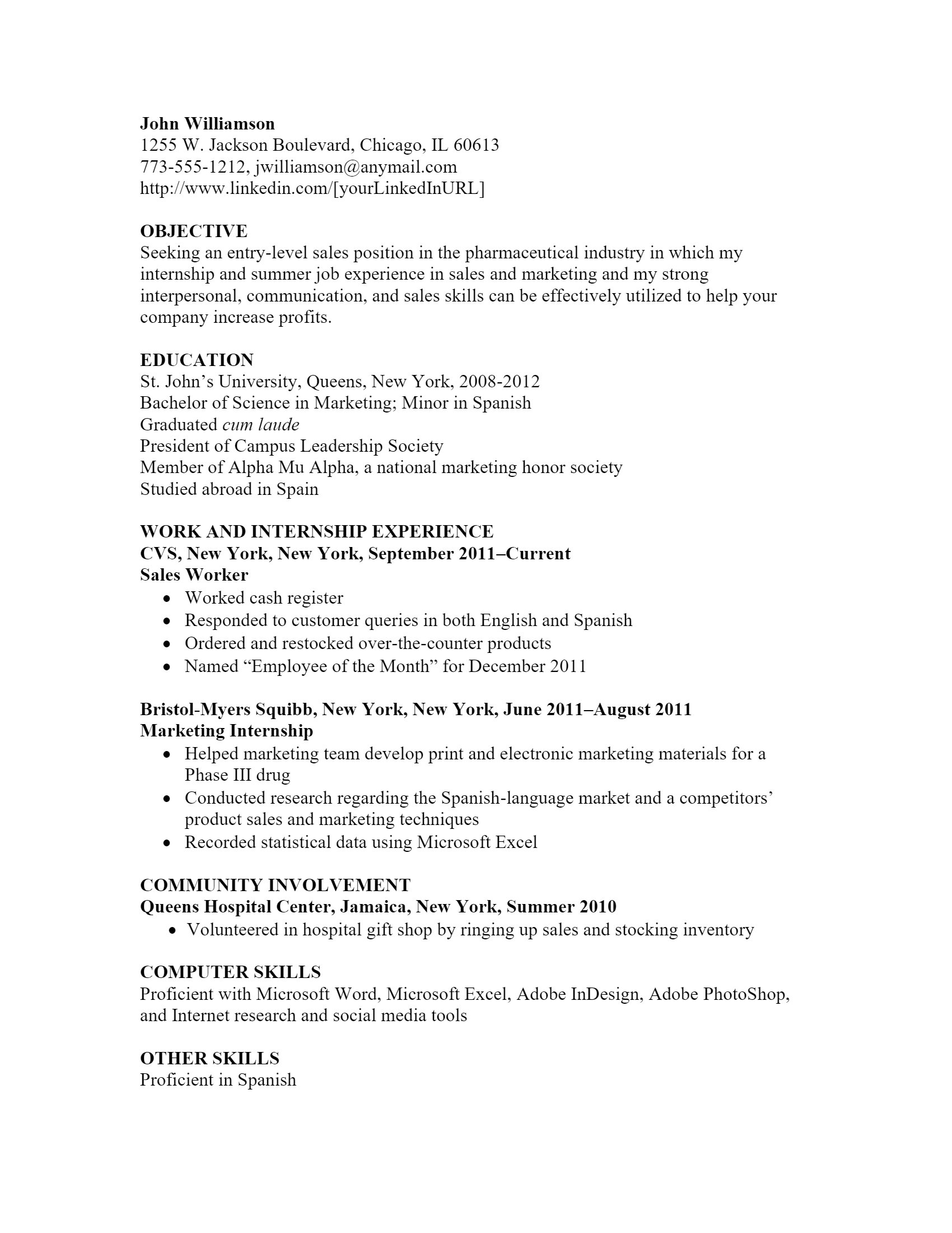 Marketing Sales Resume > Marketing Sales Resume .Docx (Word)