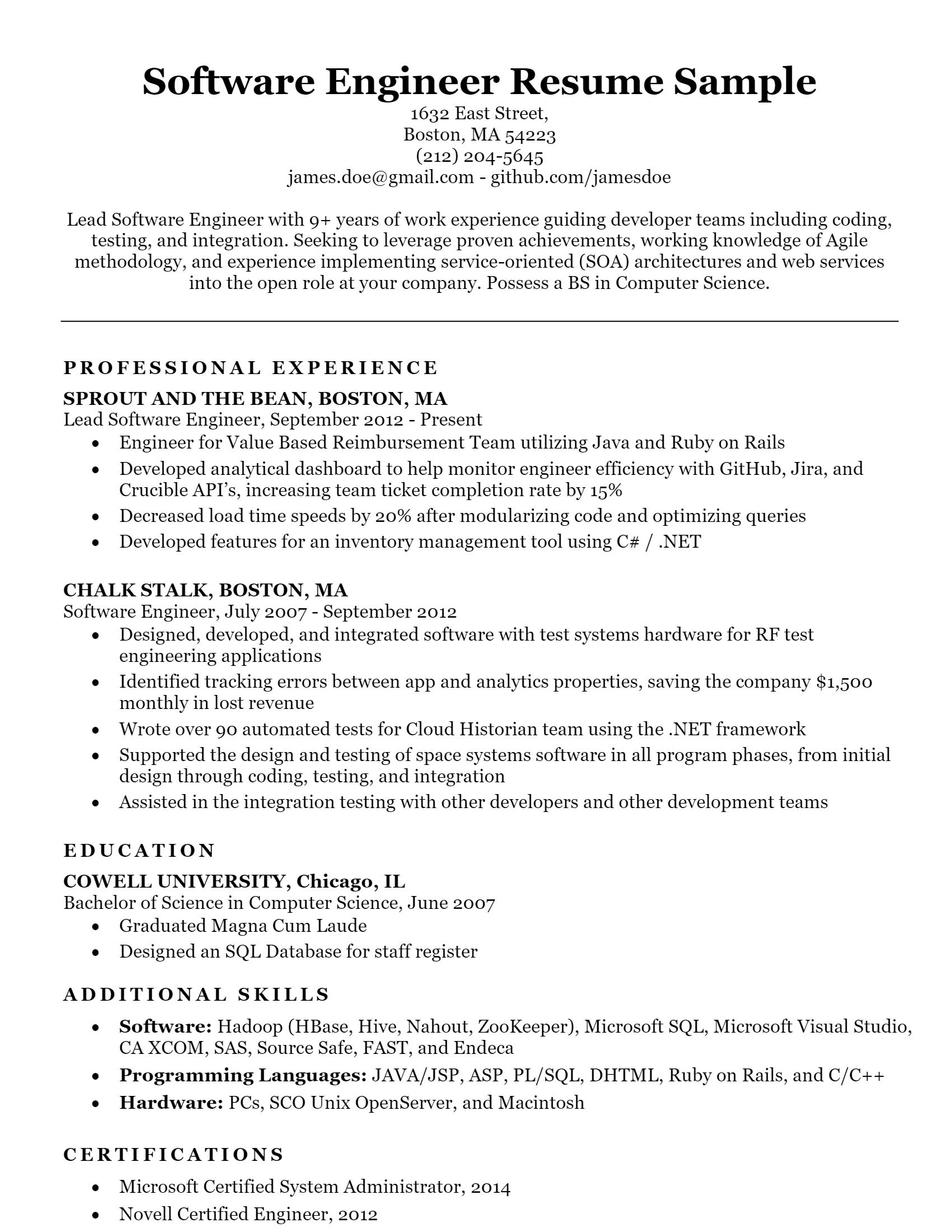 Software Engineer > Software Engineer .Docx (Word)