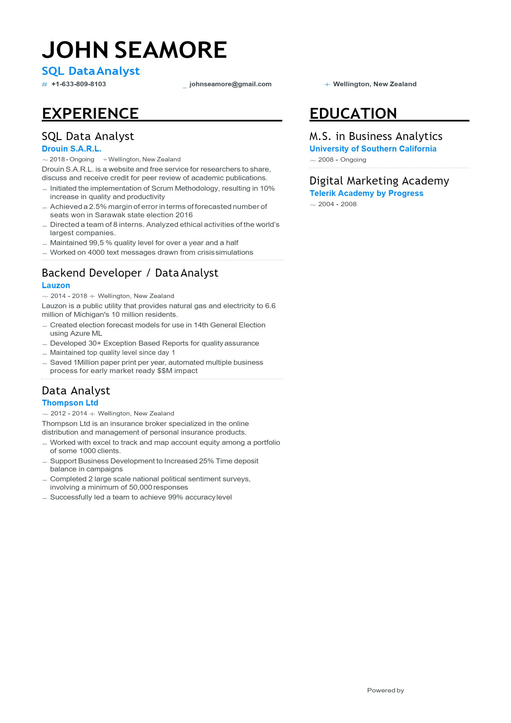 SQL Data Analyst .Docx (Word)