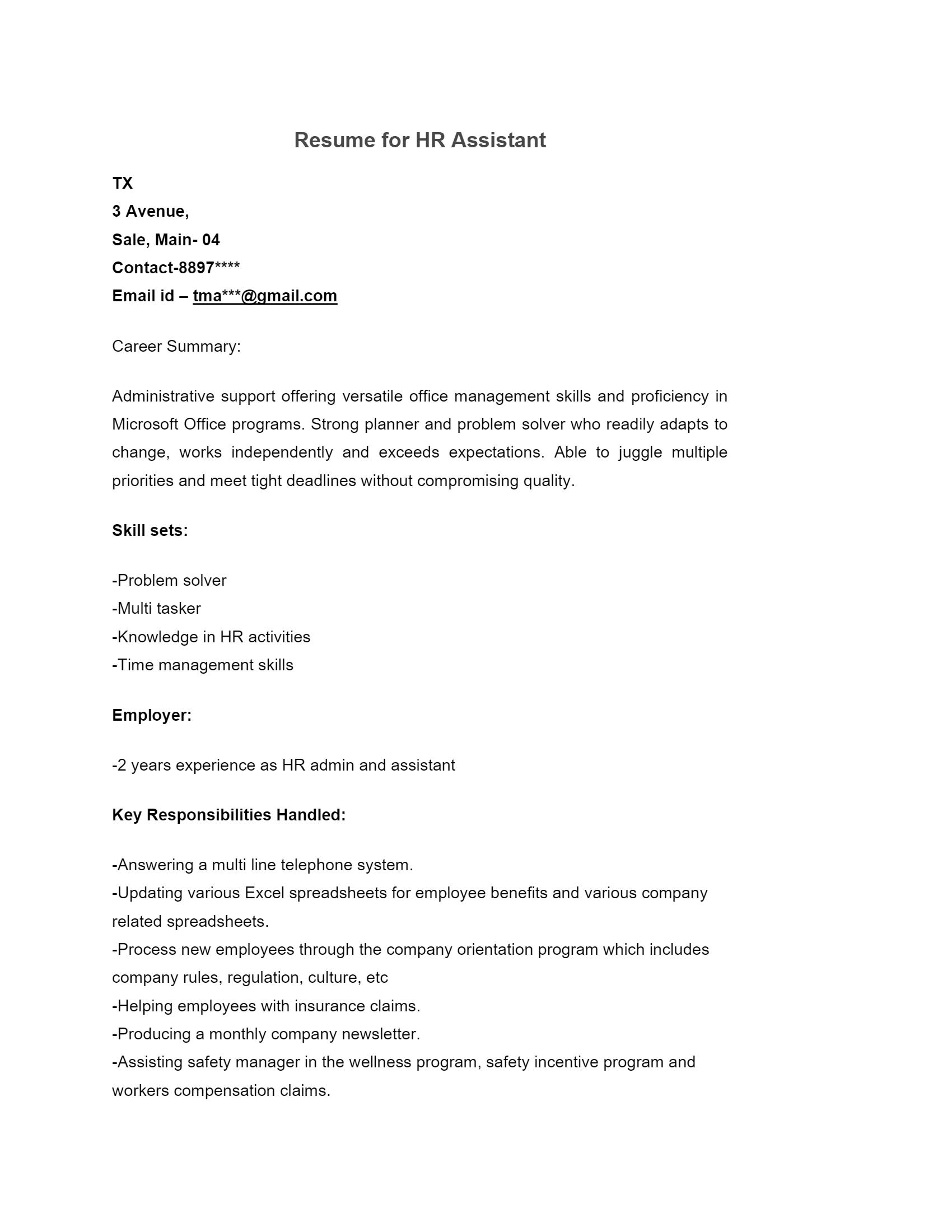 HR Assistant > HR Assistant .Docx (Word)