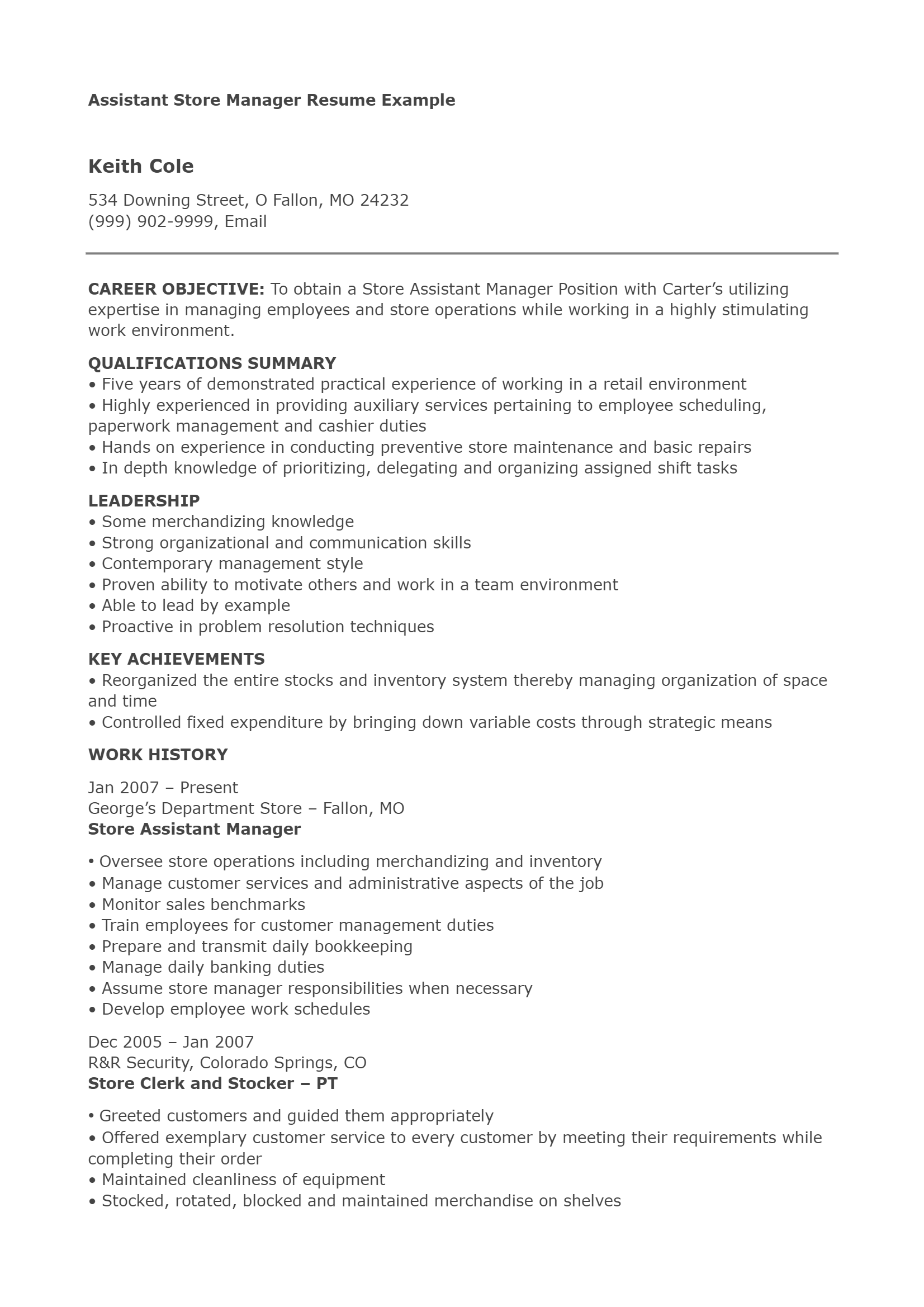 Assistant Store Manager .Docx (Word)