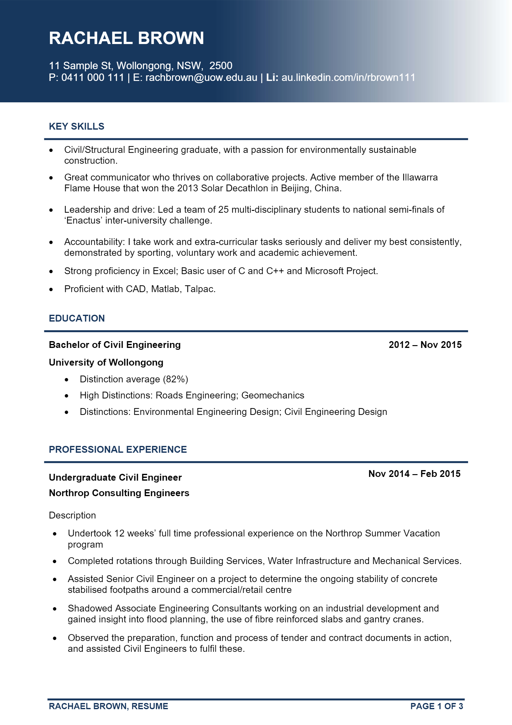Civil Engineer > Civil Engineer .Docx (Word)
