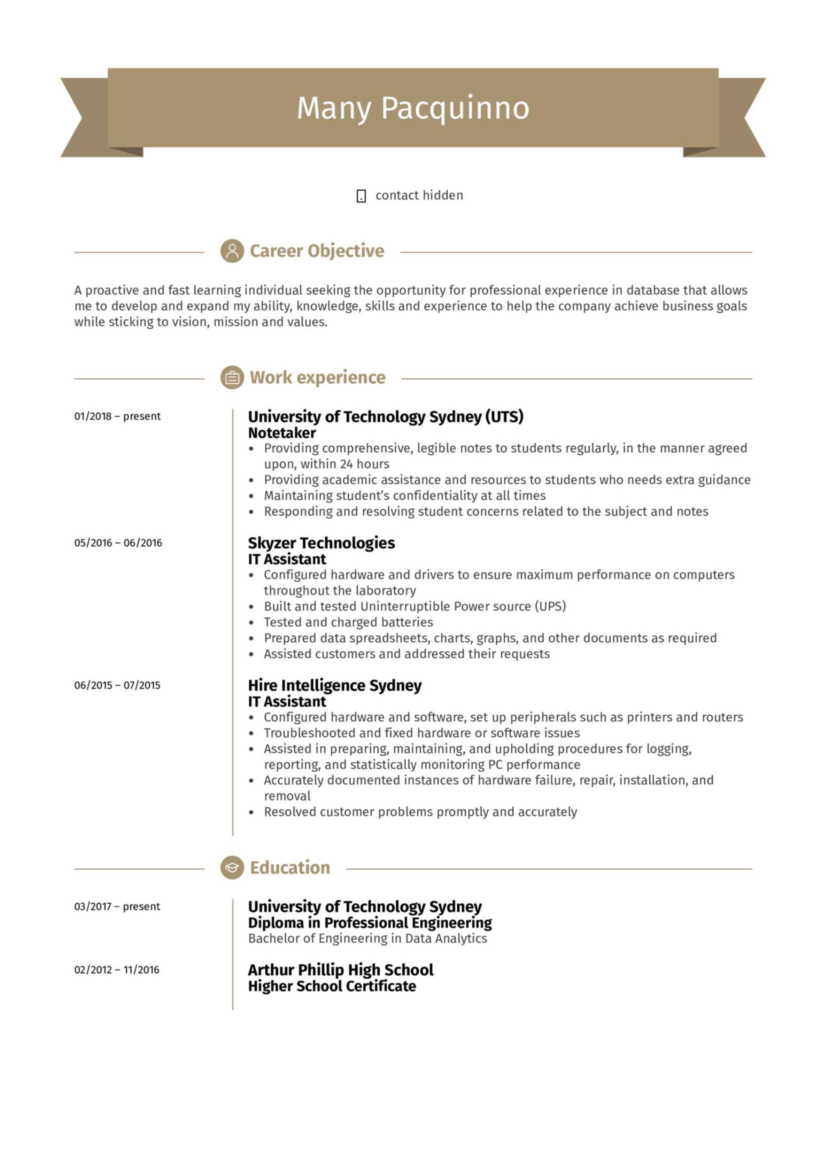 IT Assistant Resume .Docx (Word)
