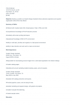Graphic Resume .Docx (Word)