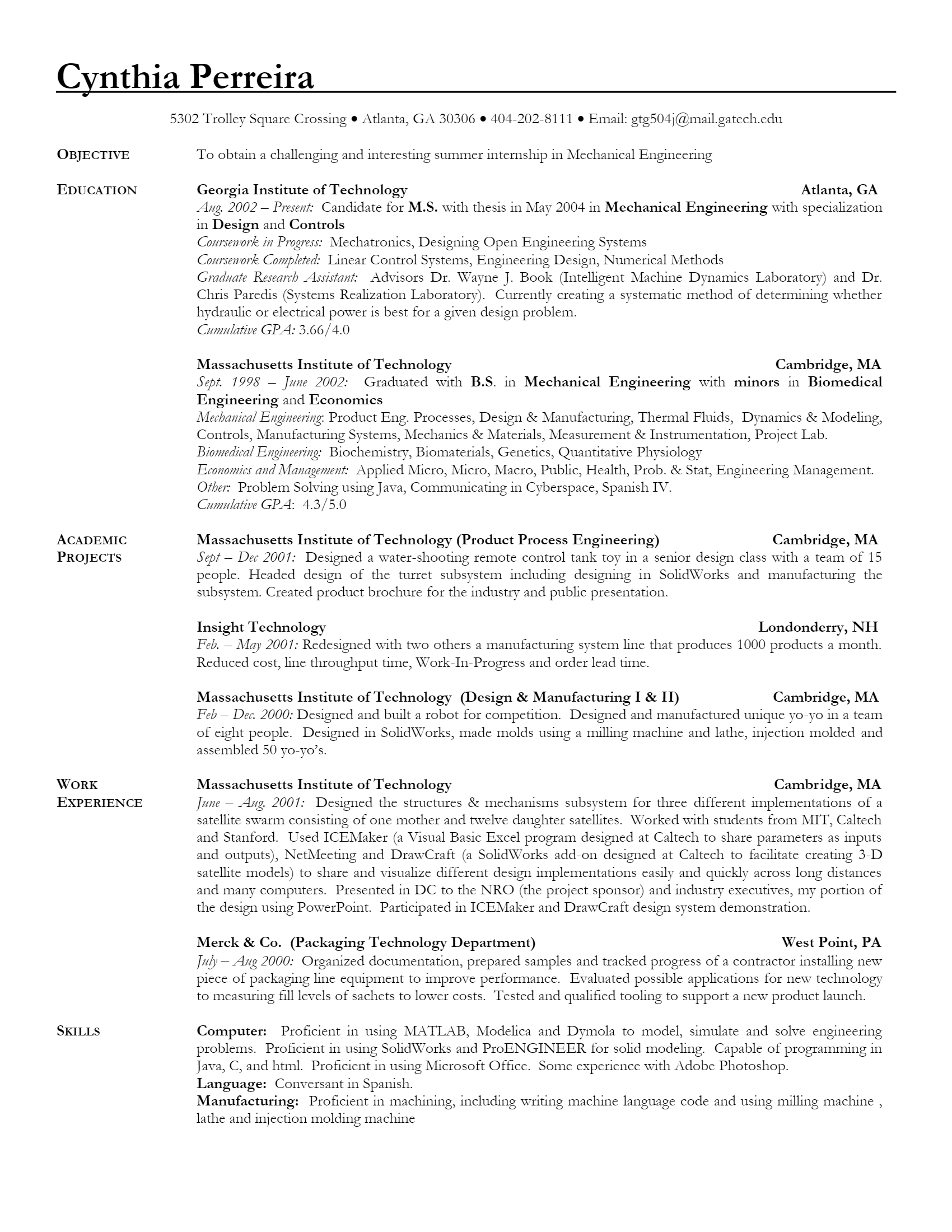 Mechanical Engineer > Mechanical Engineer .Docx (Word)