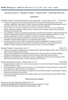 Personal Trainer Resume > Personal Trainer Resume .Docx (Word)