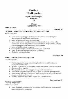 Photographer's Assistant .Docx(Word)