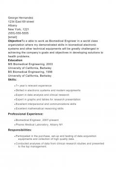Biomedical Engineer .Docx(Word)
