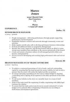 Branch Manager .Docx(Word)