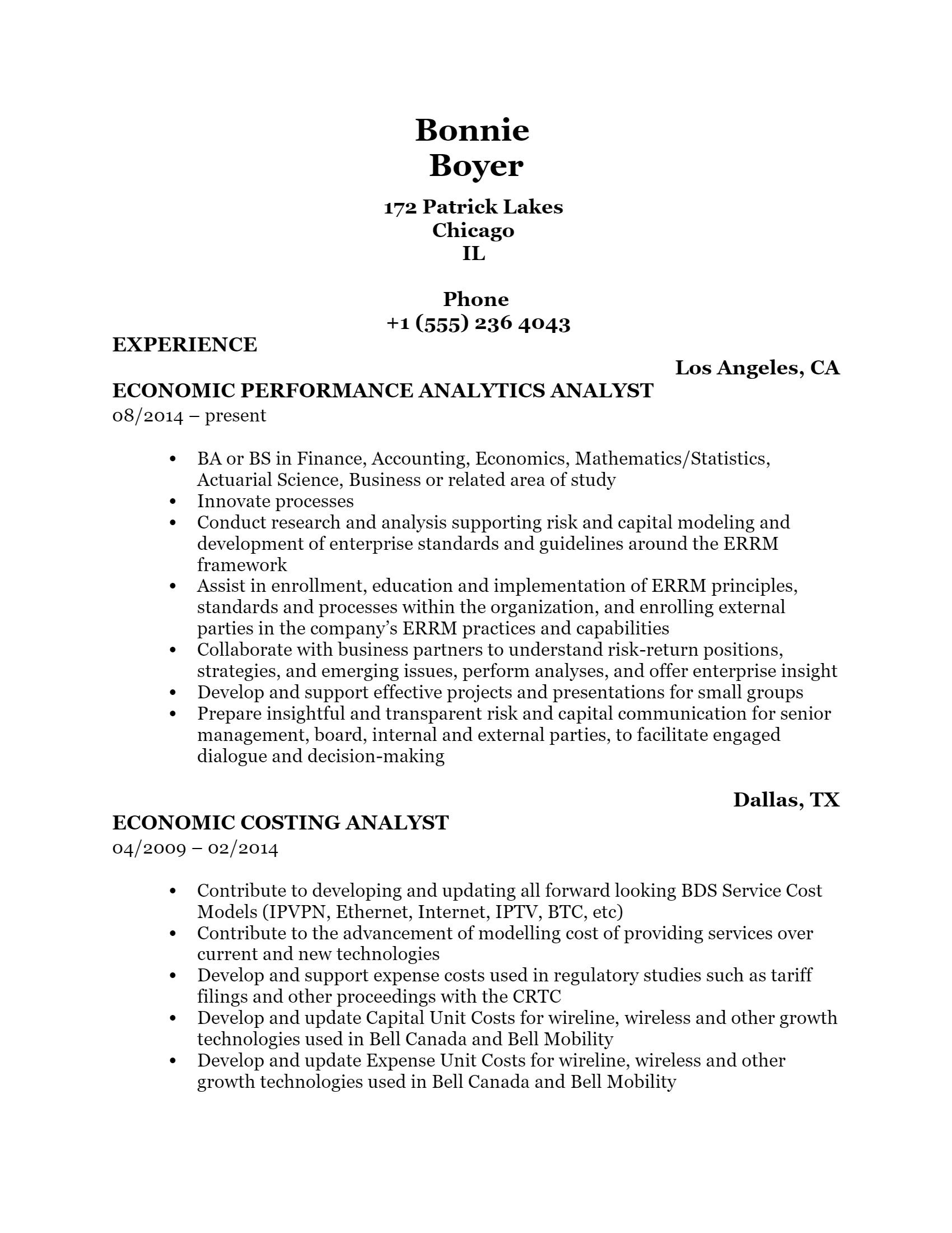 Economic Analyst .Docx(Word)