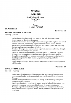 Facilities Manager .Docx(Word)