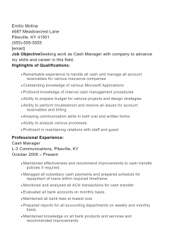 Cash Manager .Docx(Word)