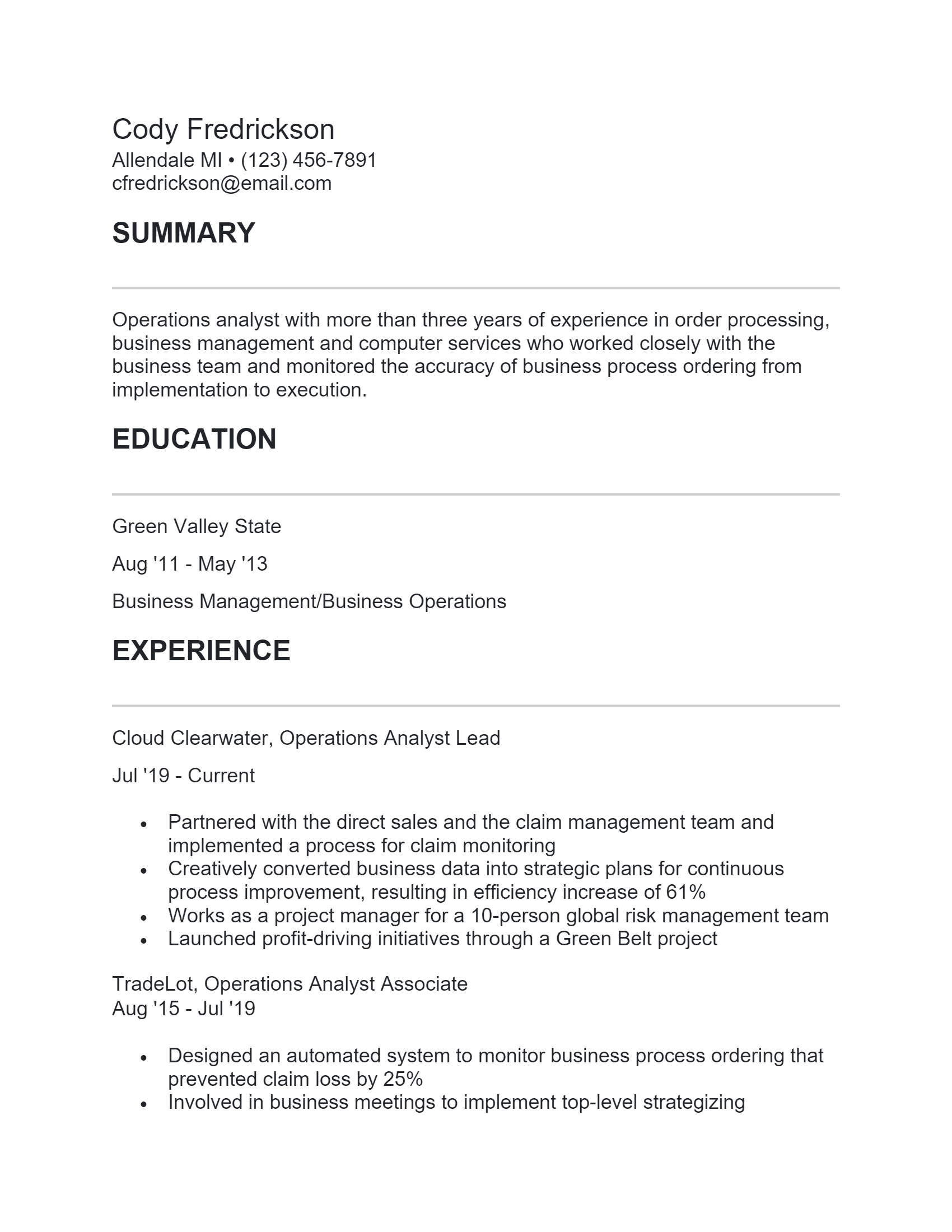 Operations Analyst .Docx(Word)