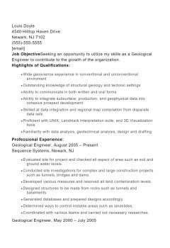 Geological Engineer .Docx(Word)