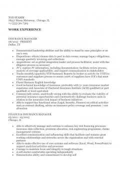 Insurance Manager .Docx(Word)