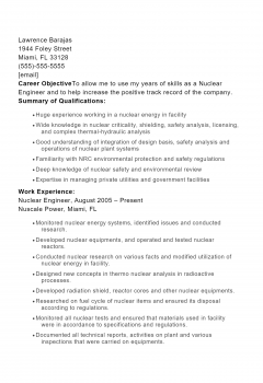 Nuclear Engineer .Docx(Word)