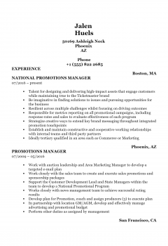 Promotions Manager .Docx(Word)