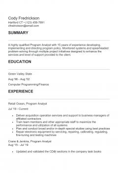 Program Analyst .Docx(Word)