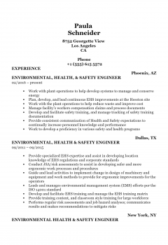 Health And Safety Engineer .Docx(Word)