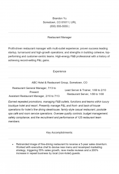 Food Service Manager .Docx(Word)