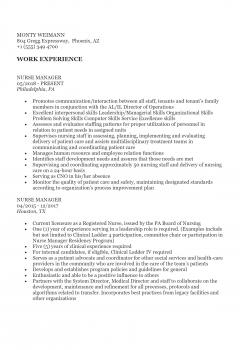 Nursing Manager . Docx(Word)