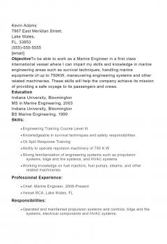 Marine Engineer .Docx(Word)