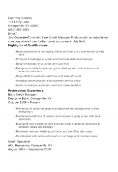 Credit Manager .Docx(Word)