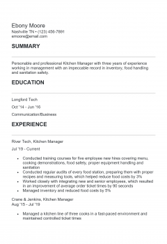 Kitchen Manager. Docx(Word)